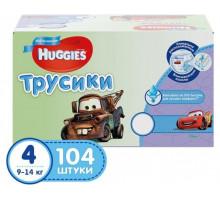 Трусики Huggies Disney Box для мальчиков (Хаггис) (4) 9-14кг (52х2, 104шт/кор)