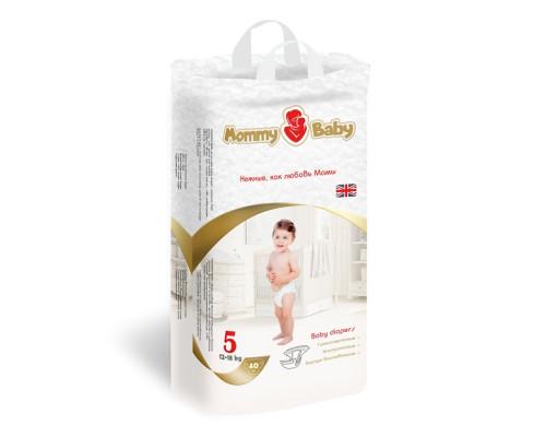 Подгузники MommyBaby XL 12-18кг, 40 шт купить в магазине Москва в наличие.