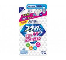 Концентрированный отбеливатель LION Bright для цветных тканей «Яркость+», 480мл. запасной блок