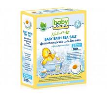 """Детская морская соль для ванн """"Babyline NATURE"""" с ромашкой в фильтр-пакетах, 500гр (Германия)"""