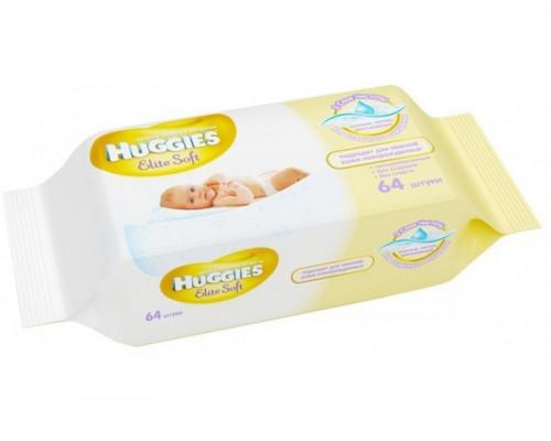 Детские влажные салфетки Huggies Huggies Elite Soft (Хаггис) 64 шт (с 0 мес)