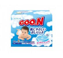 Детские влажные салфетки GooN (Гун), запасной блок, 3х70шт