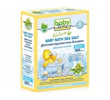 """Детская морская соль для ванн """"Babyline NATURE"""" с чередой в фильтр-пакетах, 500гр (Германия)"""
