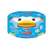 Детские влажные салфетки GooN (Гун), контейнер + запасной блок, 70шт
