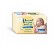 """Детские влажные салфетки Johnson's (Джонсонс) """"От макушки до пяточек"""" 112 шт (2 упаковки) 0+"""
