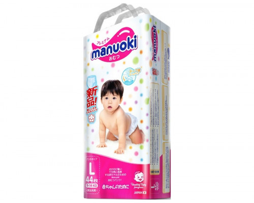 Трусики Manuoki L 9-14кг, 44шт/уп (Япония)
