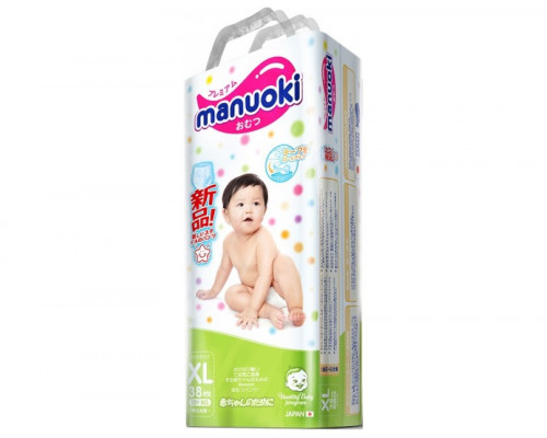 Трусики Manuoki XL от 12кг, 38шт/уп (Япония)