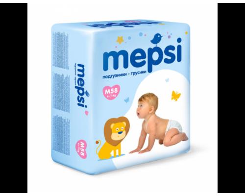 Трусики Мепси (Mepsi) M 6-11кг, (58шт/уп)