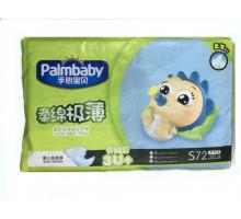 Подгузники Palmbaby Comfort S 3-7кг, 72 шт