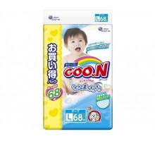 Подгузники GooN L 9-14кг, 68шт (JAPAN)