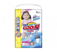 Трусики для девочек GooN L 9-14кг, (56шт) (JAPAN)