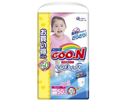 Трусики Goon для девочек XL 12-20кг, 50шт (JAPAN)