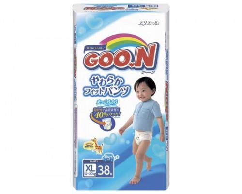 Трусики Goon для мальчиков XL 12–20 кг, 38 шт (Япония)