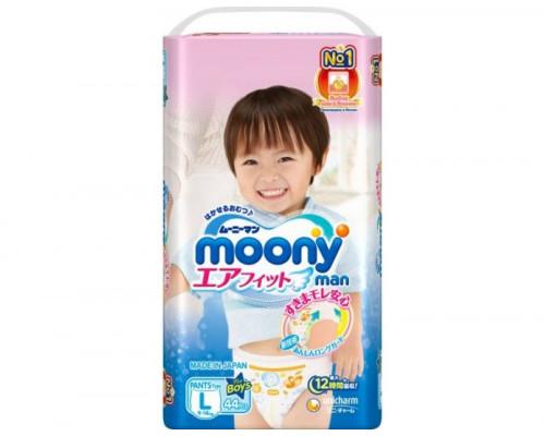 Трусики Moony для мальчиков 9-14 кг, 44шт/уп