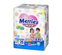 Подгузники-трусики Merries XXL 15-28 кг ночные, 26шт