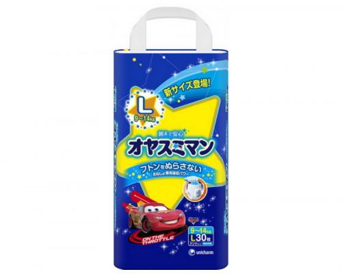 Moony трусики ночные для мальчиков L (9-14 кг) 30 шт