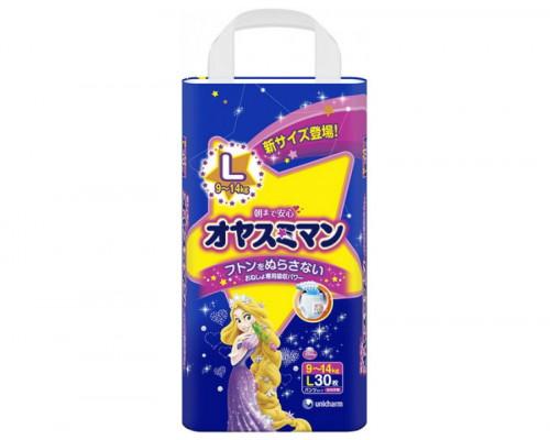 Moony трусики ночные для девочек L (9-14 кг) 30 шт.