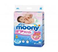 Подгузники Moony M 6-11кг, 64шт/уп (JAPAN)