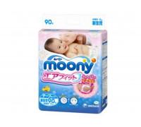 Подгузники Moony NB до 5кг, 90шт/уп (JAPAN)