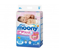Подгузники Moony S 4–8 кг, 84шт/уп (JAPAN)