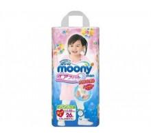 Трусики Moony для девочек 13-25кг, 26шт/уп