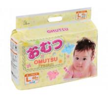 Подгузники OMUTSU размер L 9-14 кг, 48 шт
