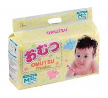 Подгузники OMUTSU размер M 6-11 кг, 52 шт